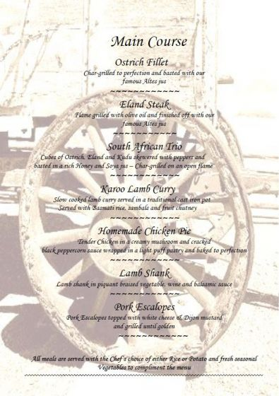 Altes Landhaus Restaurant Mains Menu